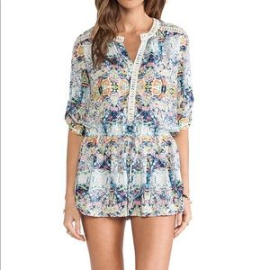 Twelfth Street Cynthia Vincent lace inset romper